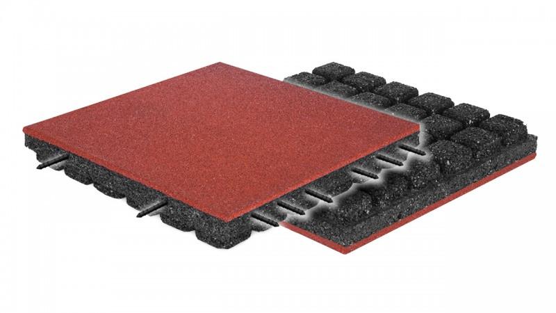 FLEXI-STEP PLUS bezpieczna płytka z matą 500x500x70mm HIC=2,4m