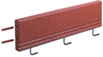 Fleksi-step FLEXI-STEP - elastyczny krawężnik z wewnętrznym usztywnieniem i mocowaniem 1000x50x250mm