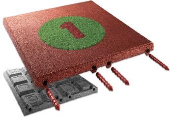 FLEXI-STEP - cyferki na płytkach 500x500x30mm