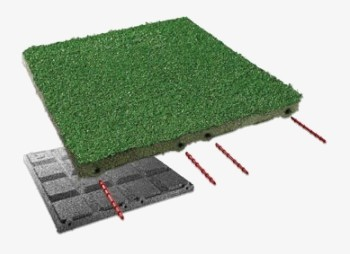 Płytki z trawą i dywanem
