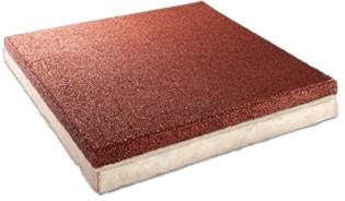 FLEXI-STEP - betonowa płytka z elastyczna nakładka 500x500x40-65mm