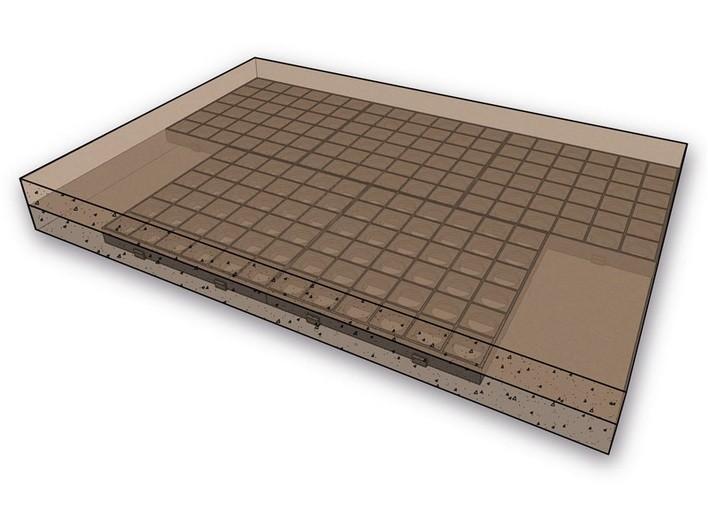 FLEXI-STEP elastyczna płytka 500x500x80mm z systemowym podkładem 2